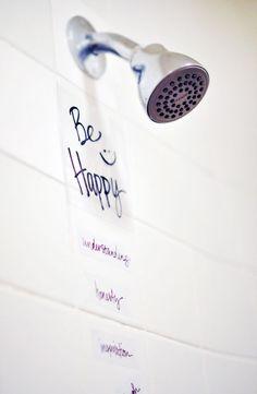DIY Vinyl Wall Art for your shower