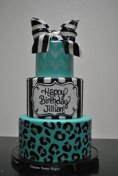 Animal Print Birthday Cake