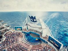 Views that can't be topped. Aqua Theater, Oasis of the Seas. http://www.premiercustomtravel.com/cruises/royalcaribbean.html #Travel #Cruising #RoyalCaribbean #OasisOfTheSeas #AquaTheater #Water #BigShip