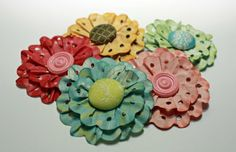 Lots of different paper flowers to make.