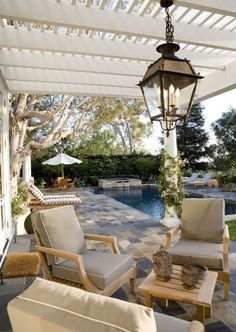 poolside patio with