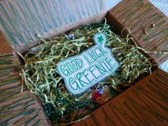 Missionary Care package including a Greenie package. So fun.