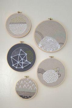 beautiful, simplistic embroidery