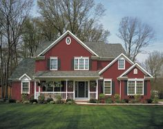 Red Homes On Pinterest Craftsman Vinyl Siding And