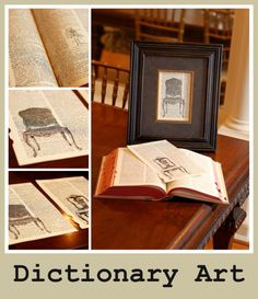 dictionary art- I blame her for my newest addiction