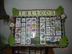 tattoos sign for our school carnival