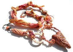 Olympia handmade lampwork bead and ceramic art bead by GeneaCK