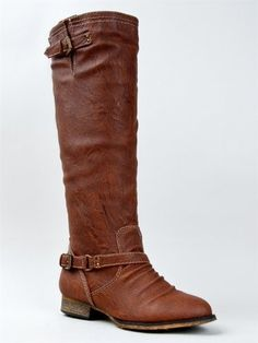Breckelle's OUTLAW-81 Fashion Basic Knee High Classic Buckle Riding Boot,9 B(M) US,Tan-11
