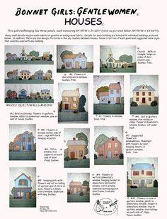 Panels of Bonnet Girls homes