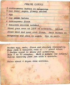 A Cake Bakes in Brooklyn:  Blog with old recipes (most from the 50's)  Praline Cookies like Gammar made!