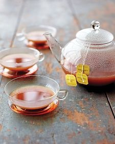 Tea and Hot Cider-  For those chilly autumn mornings when it's still too early to brew a hot toddy, try a warm, steamy cup of tea steeped in hot cider instead of water. We especially like Earl Grey tea; the resulting combination is a lightly sweet, subtly tart drink that warms the senses.
