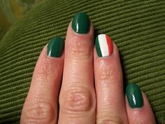 simple st patricks day nails.... love that its not lime green and there are no shamrocks