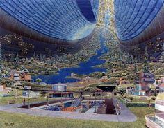 Space colony art