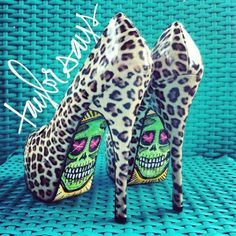 skull, fashion, cheetah print, heel, taylor, rock, animal prints, leopard prints, shoe