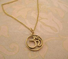 Ohm/ Buddhist/ meditation necklace/ yoga/ spiritial by MayaBelle, $48.00