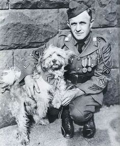 Private James Donavan and Rags, famous WWI messenger dog.