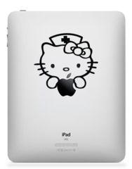 Hello Kitty. iPad, iPad 2 or iPad 3 Sticker Decal
