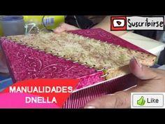 """Manualidades: Cajitas de Trupan con Tecnicas Variadas - By:""""Taller Dnella""""2014"""