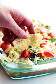 Why stop at 7?? This 9 layer dip takes party dips to a whole new level of fun and yum!!