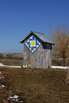 I have heard of barns with quilts, but outhouses?