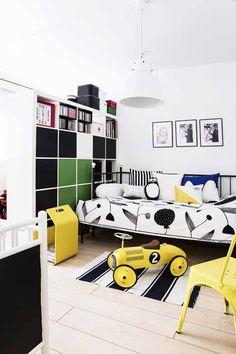 Black and yellow boys room