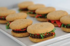 Brownie Burgers butter cooki, browni burger, food, lettuce salads, burgers, cookies, snack, peanut butter, parti