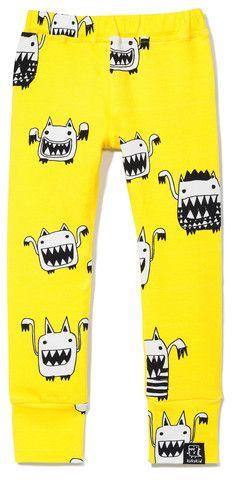 Kukukid   Legging yellow monsters