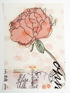 peony print art giclee pink coral flower wedding gift. $25.00, via Etsy.
