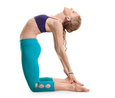 Do camel pose to fight anxiety. The backbend creates a sense of fearlessness. It exposes your heart and soft underbelly, but in a safe and supported way.