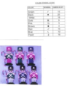 CANDY CANE SOLDIER ORNAMENTS  3/3