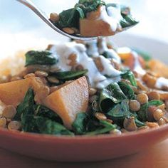 Lentil, Potato & Spinach Curry