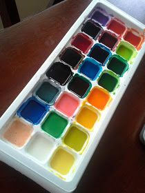 That's So Cuegly: Water Color Paints {homemade}