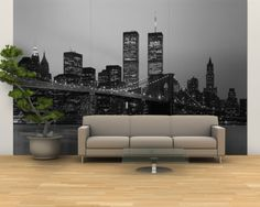 Brooklyn Bridge, Manhattan, New York City, New York State, USA Wall Mural – Large at AllPosters.com