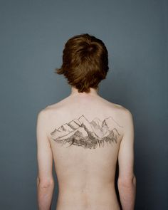 #mountain #tattoo #contour