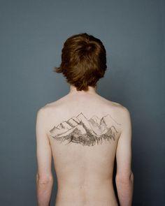 #mountain #tattoo #contour