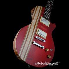 cmg- stripey. red guitar.
