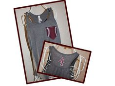 Custom Personalized Baseball Mom Racerback by SewSnazzybyBrook, $34.00