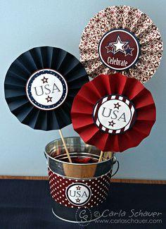 Stars & Stripes Printable Party Medallion tutorial