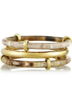 horn and gold bangles