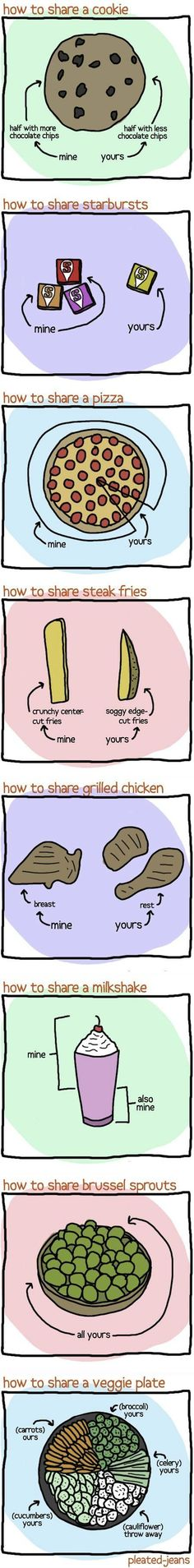 How to share things. Made me giggle :)