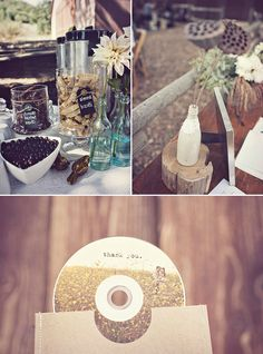 I love the idea of using Cd's for favors.