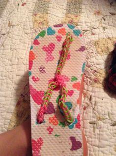 Rainbow loom flip flops