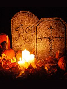 Make your own grave stones for Halloween