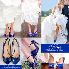 Blue and White Wedding Ideas - Blue Wedding Shoes