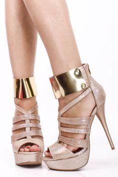 CHAMPAGNE HOLOGRAM STRAPPY GOLD SHIELD ANKLE CUFF OPEN TOE HIGH HEEL STILLETOS,Womens Sexy Heels Shoes-Sexy Heels,High Heels Shoes,High Heels Pumps,Stiletto Heel,Prom Heels,Fashion Heels,6 Inch Heels,6 Inch High Heels,Heels and Pumps,Platform Heels,Fashionable Black Heels,Party Heels At PinkBasis