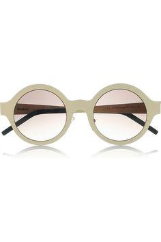 ILLESTEVA  Frieda round frame steel sunglasses