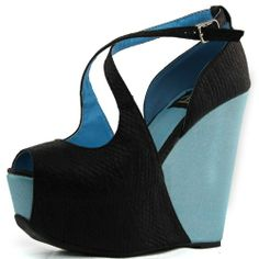 pu color, fashion shoes, colors, wedge heels, pump, wedg heel, fashion looks, black pu, color wedg