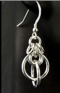 Cool chainmail earrings