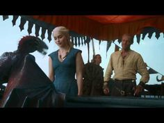 game of thrones s3 ep. 1 clip: dany and her dragons (drogon zomg!)