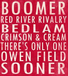 University of Oklahoma Sooners art board